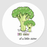 Big Sister - little sibling broccoli Round Sticker