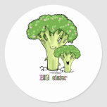Big Sister - little sibling broccoli Round Stickers