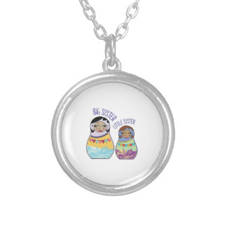 Big Sister Little Sister Silver Plated Necklace