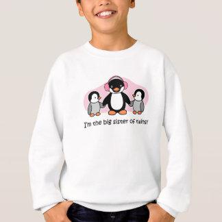 Big Sister of Twins - Penguin Sweatshirt