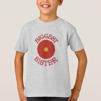 Big Sister Orange and Yellow Dahlia Flower T-shirt