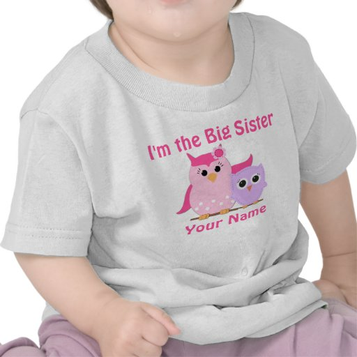 Big Sister Owl Personalized T Shirt
