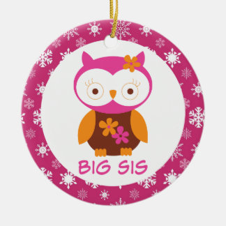 Big Sister Owl Sibling Keepsake Ornament Gift