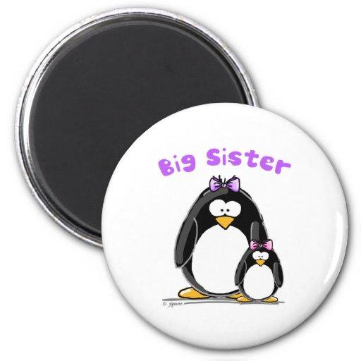 Big sister Penguin Magnets