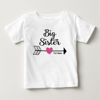 Big Sister Pink Arrow Personalized Shirt