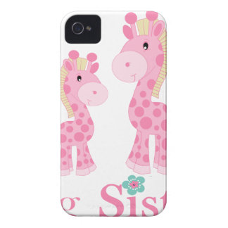 Big Sister Pink Giraffes iPhone 4 Cover