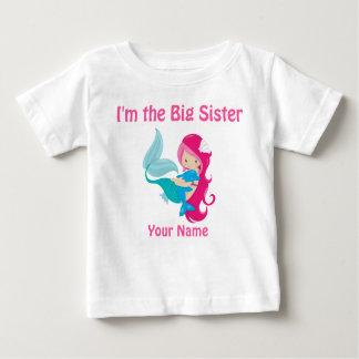 Big Sister Pink Mermaid Personalized Shirt
