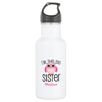 Big Sister Pink Owl Personalized