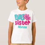 Big Sister Pink Teal Personalized shirt