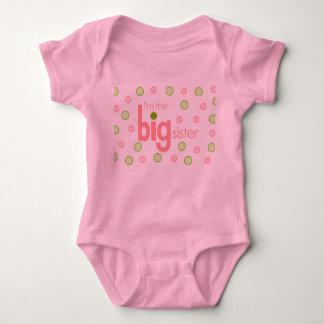 big sister polkadot baby bodysuit