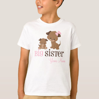 Big Sister Puppy Dog Personalized T-shirt