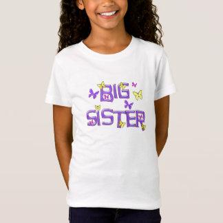 Big Sister, purple, yellow, pink butterflies T-Shirt