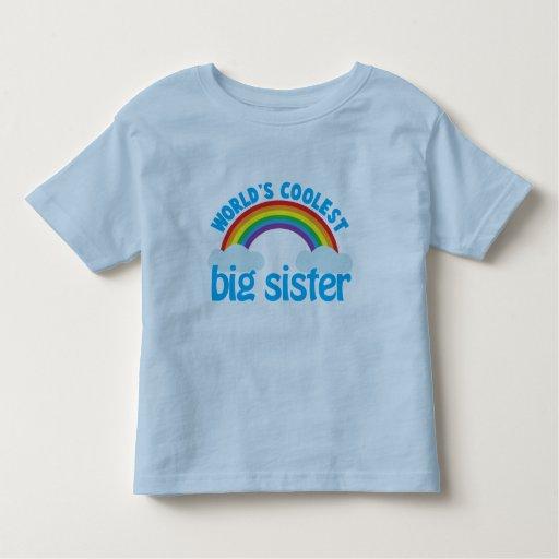 big sister rainbow toddler t-shirt