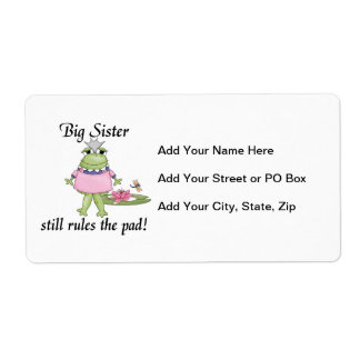 Big Sister Rules the Pad Gifts Shipping Label