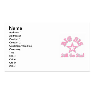 Big Sister Still the Star Gifts Business Card