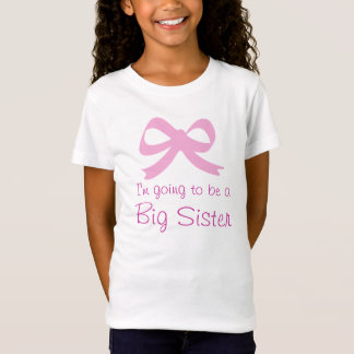 Big sister t shirt for older sibling | Pink bow