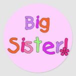 Big Sister T-shirts and Gifts Round Stickers