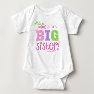 Big Sister to Be Bodysuit Announcement