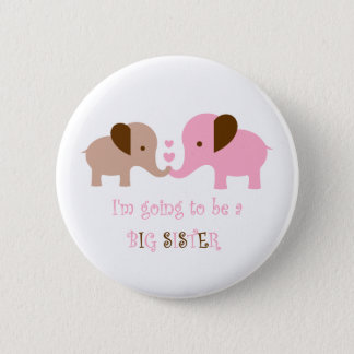 Big Sister To Be Elephants 2 Inch Round Button