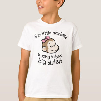 Big Sister to Be Monkey T-Shirt