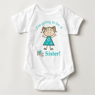 Big Sister To Be Stick Figure Baby Shirt