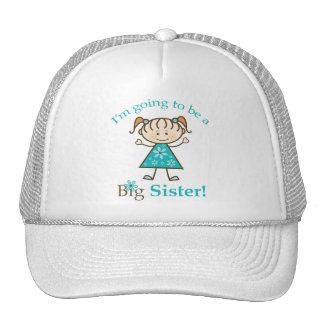 Big Sister To Be Stick Figure Cap / Trucker Hat