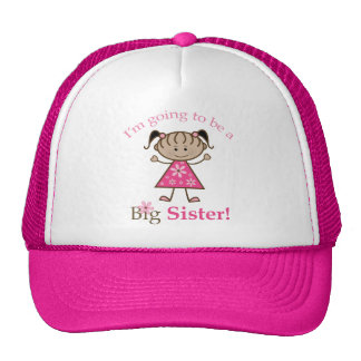 Big Sister To Be Stick Figure Girl Ethnic Trucker Hat