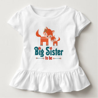 Big Sister to Be Woodland Foxes Toddler T-shirt
