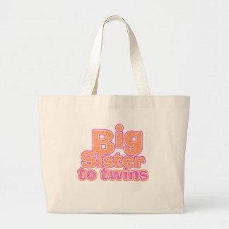 Big Sister to Twins Jumbo Tote Bag