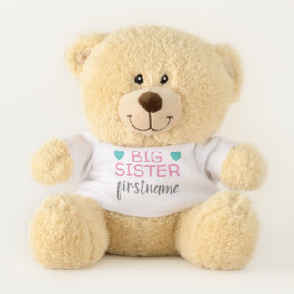 Big Sister with custom name or text Teddy Bear