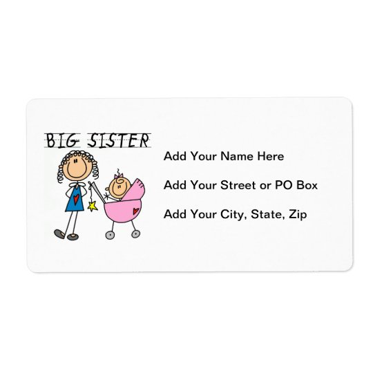 Big Sister With Little Sister Gifts Shipping Label
