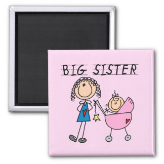 Big Sister With Little Sister T-shirts and Gifts Square Magnet