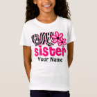 Big Sister Zebra Floral Personalized Shirt