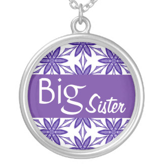 Big SisterPurple Star Flowers Custom V05 Silver Plated Necklace