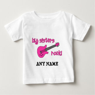 Big Sisters Rock! with Pink Guitar Baby T-Shirt