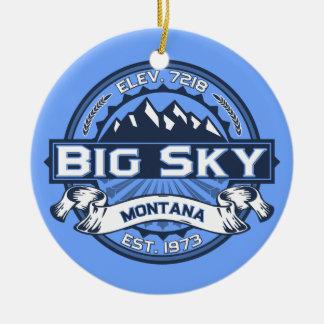 Big Sky Blue Ceramic Ornament