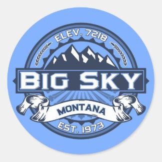 Big Sky Blue Classic Round Sticker
