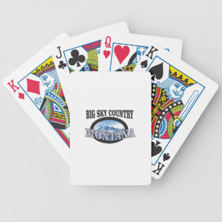 big sky country Montana Bicycle Playing Cards