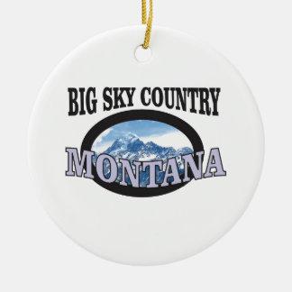 big sky country Montana Ceramic Ornament