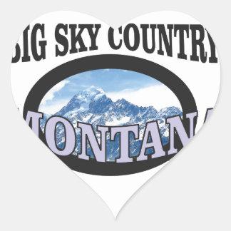 big sky country Montana Heart Sticker