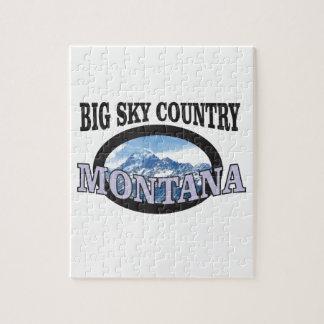 big sky country Montana Jigsaw Puzzle