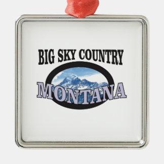 big sky country Montana Metal Ornament