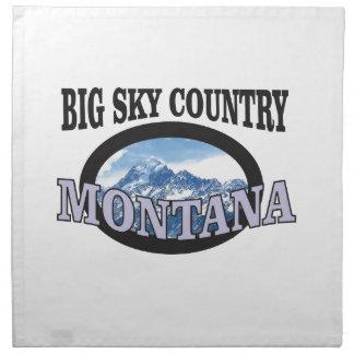 big sky country Montana Napkin
