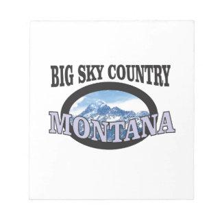 big sky country Montana Notepad