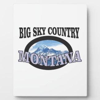 big sky country Montana Plaque