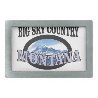 big sky country Montana Rectangular Belt Buckle
