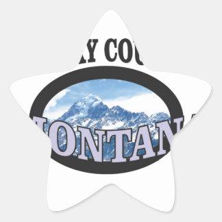 big sky country Montana Star Sticker