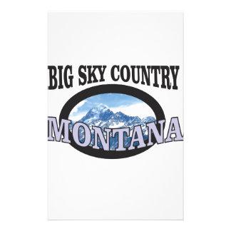 big sky country Montana Stationery