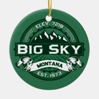 Big Sky Forest Ceramic Ornament