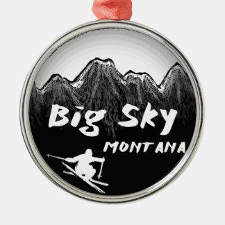 Big Sky Montana artistic skier Metal Ornament